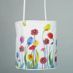 floral vinyl peg bag