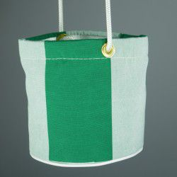 green and cream peg bag