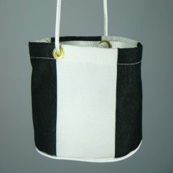 black and white peg bag