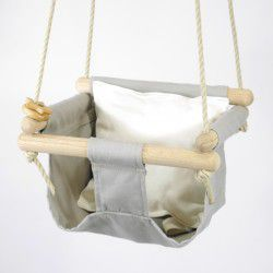 taupe organic swing natural pillow