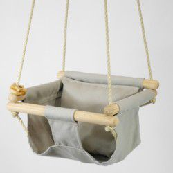 taupe organic swing and pillow
