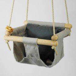 taupe organic swing charcoal pillow