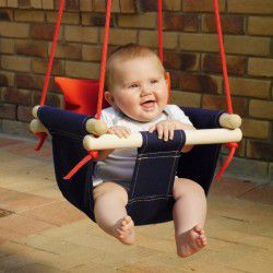 navy baby swing