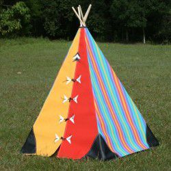 red yellow and candy teepee
