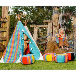 kids teepee and pouffes