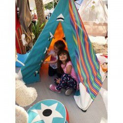 aqua and candy teepee