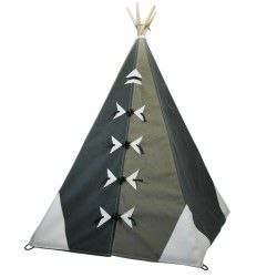 charcoal and stone teepee