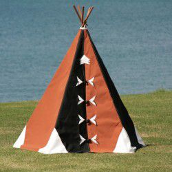 black and tan teepee