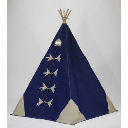 navy and stone teepee