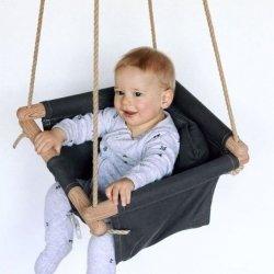 charcoal organic baby swing