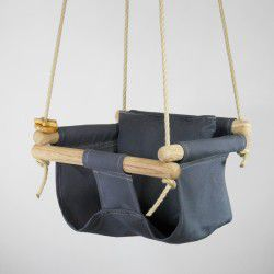 charcoal organic swing and pillow
