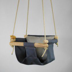 charcoal organic swing taupe pillow