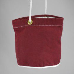 burgundy peg bag